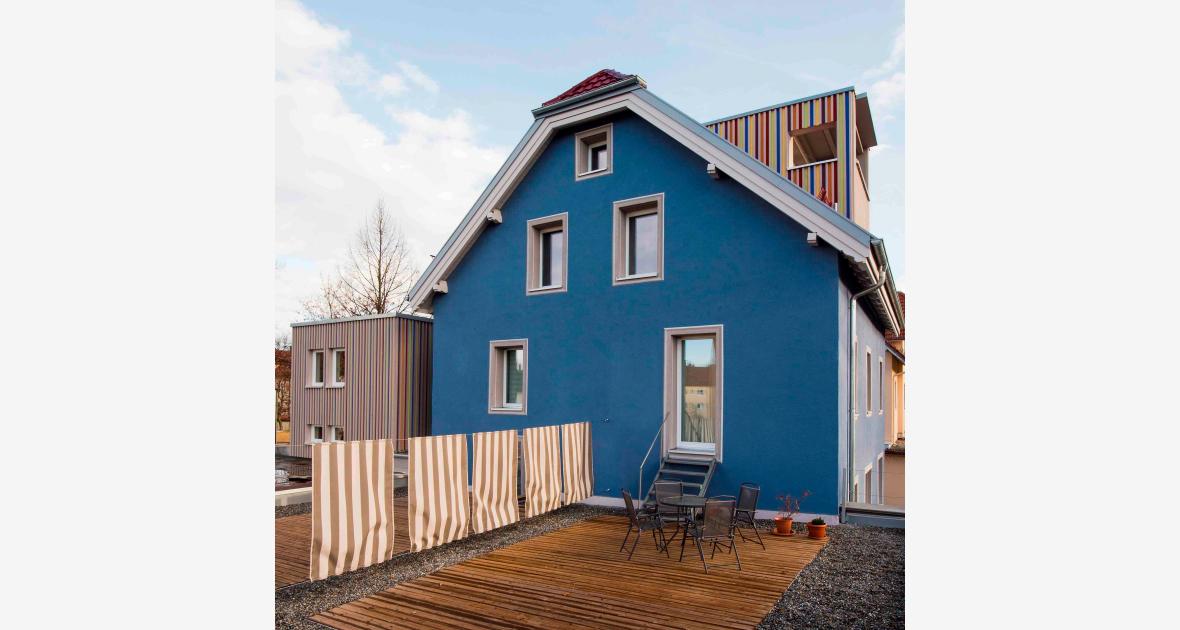 Wohn- und Geschäftshaus Farbkonzept